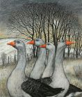 Seren Bell, Geese By The Copse