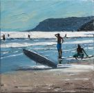 Dai David, Evening Surf, Caswell