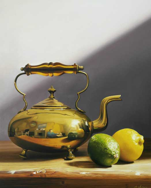 Michael de Bono, Brass Kettle With Lemon & Lime
