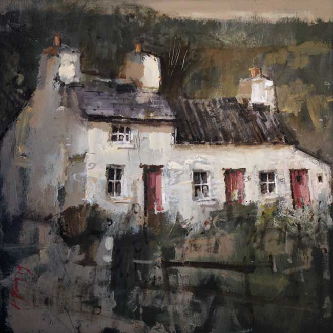 Andrew Douglas-Forbes, Very Ancient Cottage, Carmel (Red Doors)