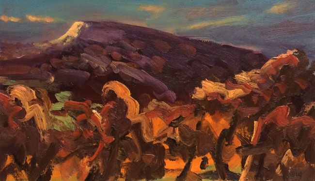 David Lloyd Griffith, Evening Light On Craig Y Forwyn