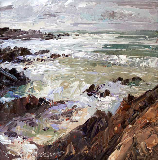 David Grosvenor, Shoreline At Porth Cwyfan