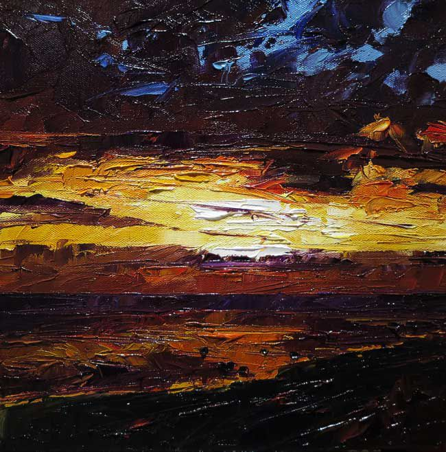 David Grosvenor, Sunset Criccieth, West Beach