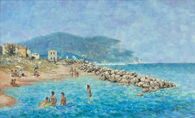 Christopher Hall (1930-2016), Seaside, Montelonero