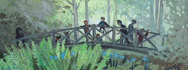 Nick Holly, Footbridge Aberglasney