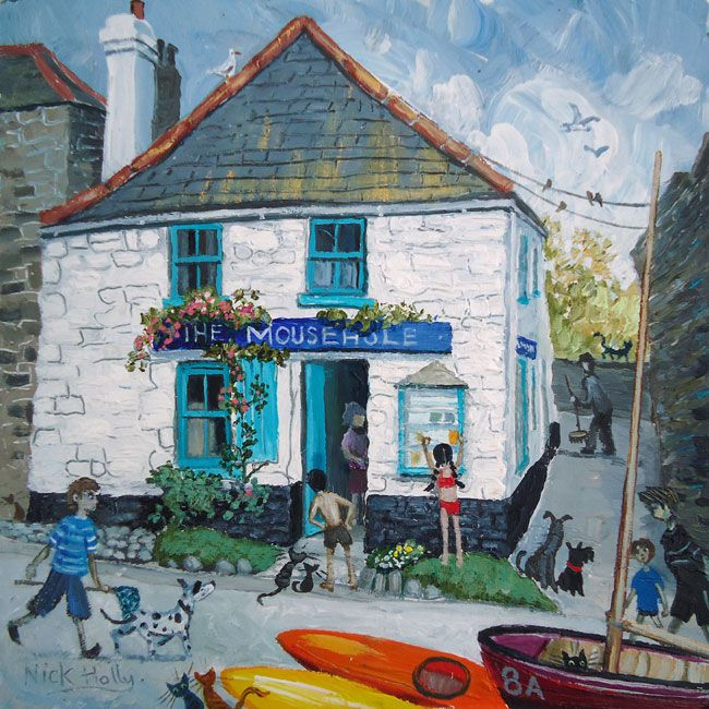 Nick Holly, Shop, Mousehole Cornwall