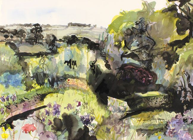 Duncan Johnson, A Cottage Garden in Monmouthshire
