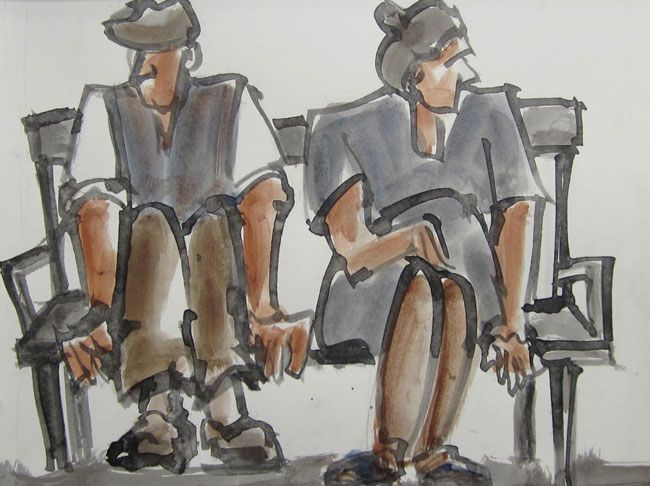 Mike Jones, Couple On Bench