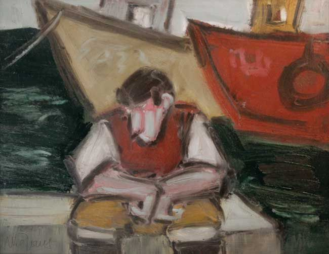 Mike Jones, Seated Figure Harbour Wall