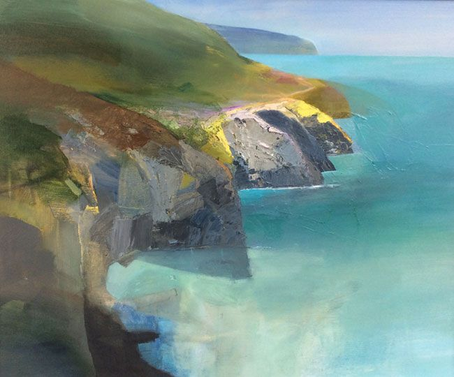 Karen Pearce, Ceredigion Coastline - Calm