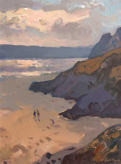 Gareth Thomas (1955-2019), Evening Tor Bay, Gower