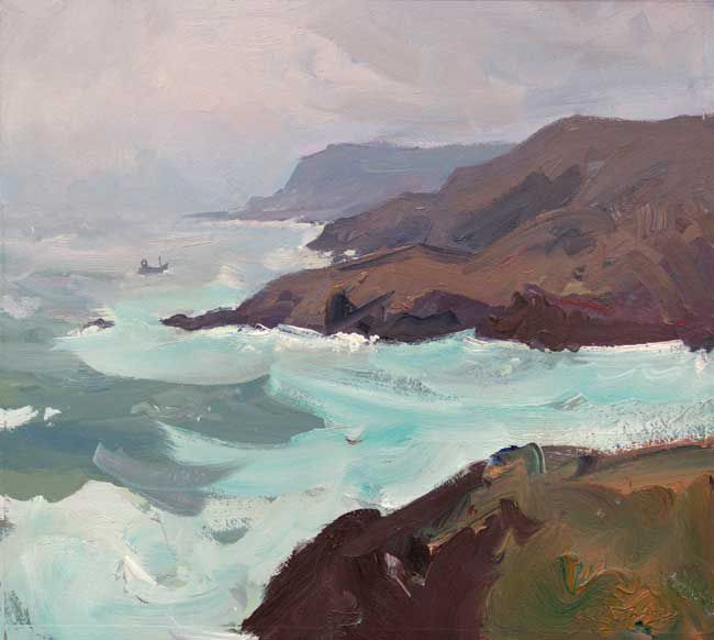 Gareth Thomas (1955-2019), Rough Sea, Caswell