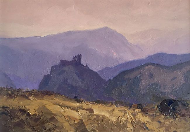 Gareth Thomas, View of Carreg Cennen