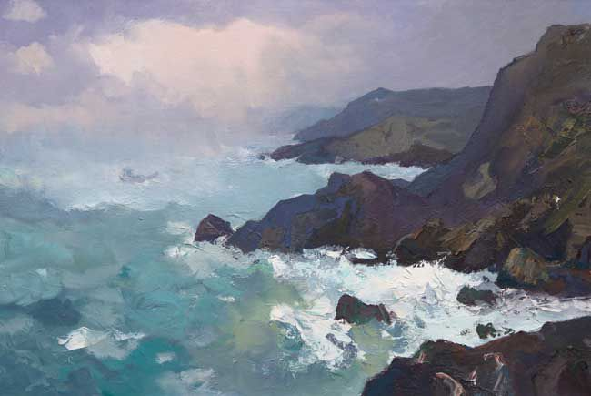 Gareth Thomas (1955-2019), Boat Passing Near Caswell (no delivery available)