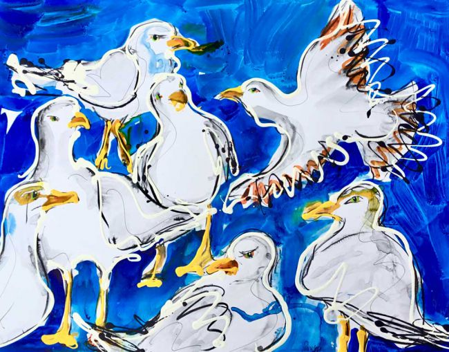 Penelope Timmis, Some Seagulls (gallery collection only)